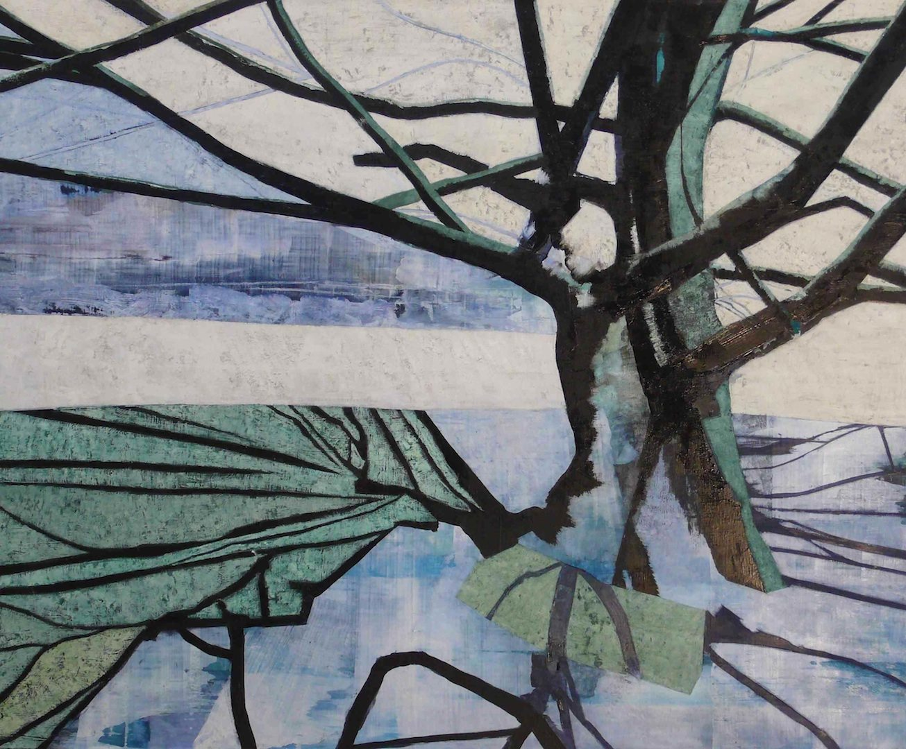 'Hampstead Tree' - Oil on Canvas, 148x178cm, 2014 - Zoe Benbow