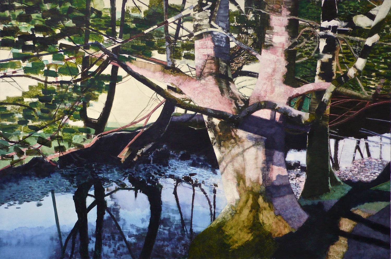 'Easedale Trees' - Oil on Canvas, 119.5x178.7cm, 2019