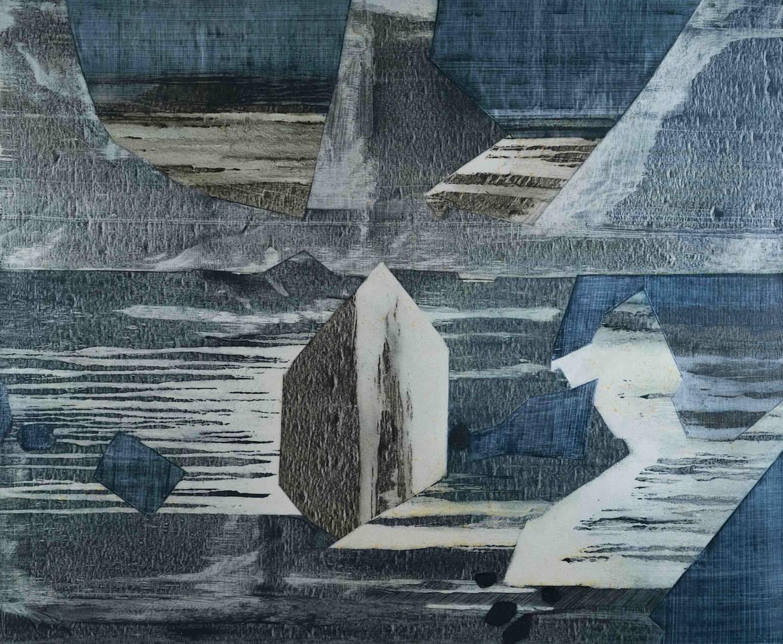 'Flint Like' - Oil on Canvas, 91x110cm, 2013 - Zoe Benbow