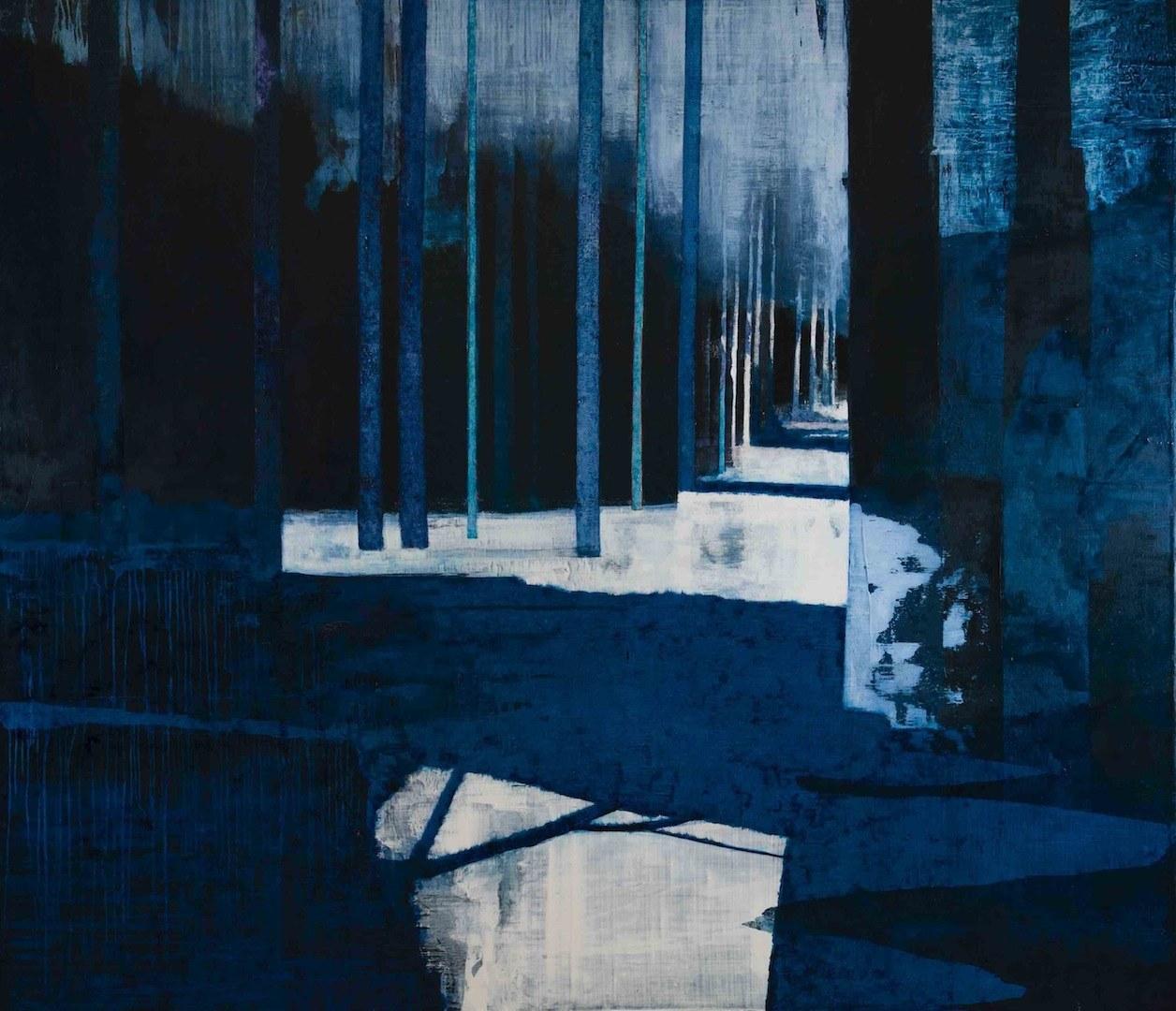 'Tarn Trees' - Oil on Canvas, 183x213cm, 2014 - Zoe Benbow