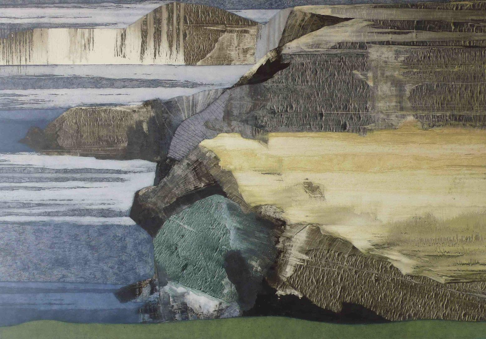 'The Angle of a Landscape' - Oil on Canvas, 120x175cm, 2013 - Zoe Benbow
