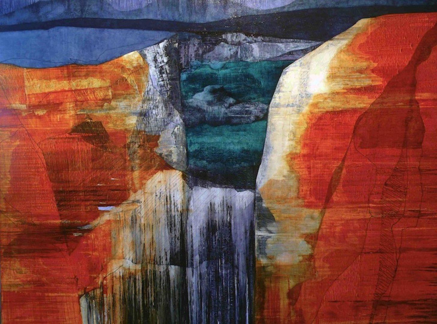 'Western Sea' - Oil on Canvas, 183x244cm, 2012 - Zoe Benbow